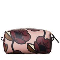 Passion Flower Textured Vinyl Cosmetic Bag Multicolour