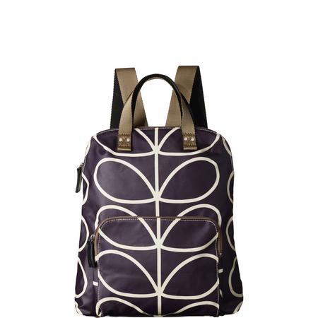 Linear Stem Print Backpack Purple