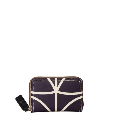 Linear Stem Medium Zip Wallet Purple
