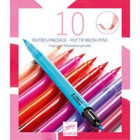 Felt Tip Brush Pens Set Of 10