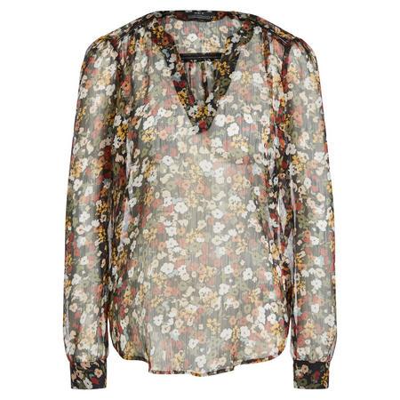 Sheer Floral Blouse Multicolour