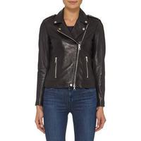 Biker Leather Jacket Black
