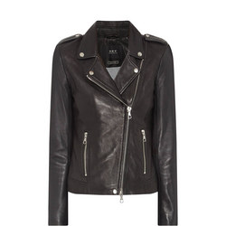 Biker Leather Jacket Black