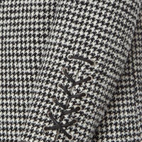 Houndstooth Single-Breasted Coat Multicolour