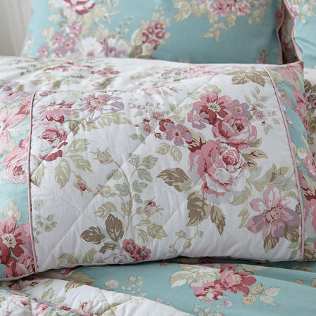 Country Floral Cushion Blue