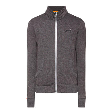 Zipped Sweat Top Grey