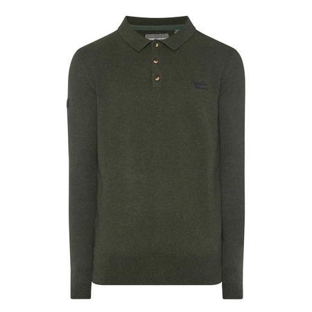 Orange Label Polo Knit Sweater Green