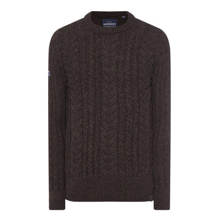 Orange Label Jacob Cable Knit Sweater Brown