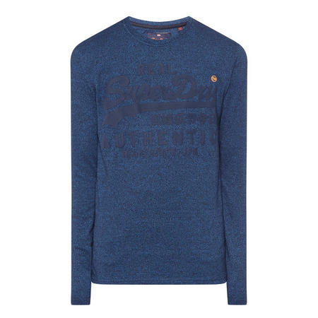 Real Logo Long-Sleeve T-Shirt Blue