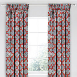 Oska Curtain Red