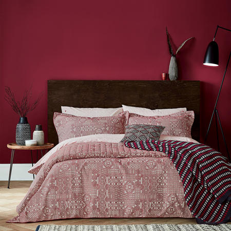 Akello Duvet Cover Red