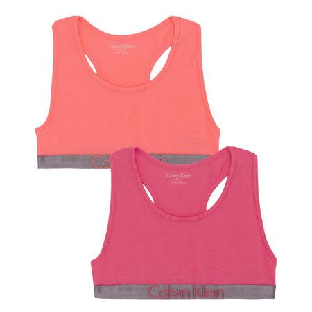 Girls Two-Pack Bralette Bras Pink