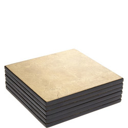 Hotel Tableware Lacquer Coasters Set of 6 Gold