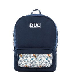 Floral Backpack Navy