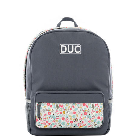 Floral Backpack Grey