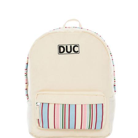 Stripe Backpack Cream