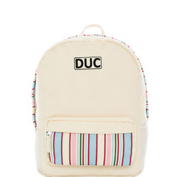 Stripe Backpack Cream
