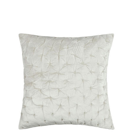Velvet Stitch Cushion Frost