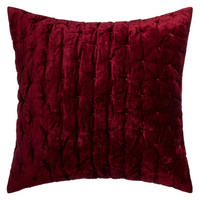 Velvet Stitch Cushion Mulberry