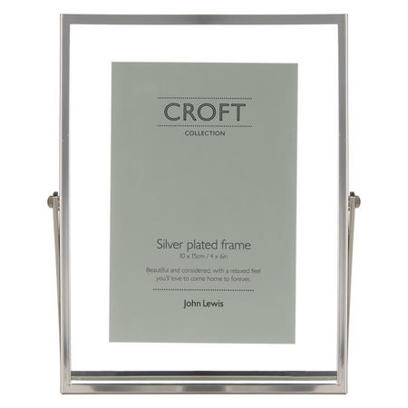 "Croft Collection Floating Photo Frame 4 X 6"" Silver"