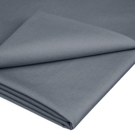 Perfectly Smooth 200 Thread Count Egyptian Cotton Oxford Flat Sheet Grey