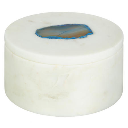 White Marble Agate Container