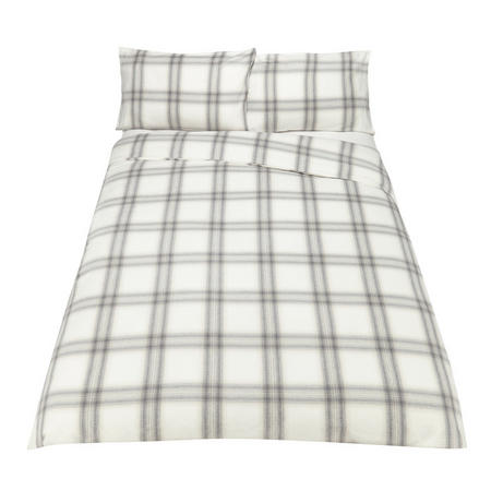 Ombre Check Duvet Cover Set Red
