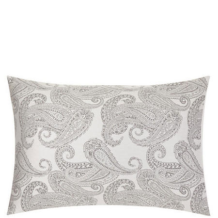 Paisley Cotton Pillowcase Grey