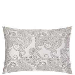 Paisley Cotton Pillowcase Grey