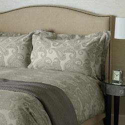 Paisley Cotton Oxford Pillowcase Grey