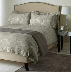 Paisley Cotton Coordinated Bedding Grey