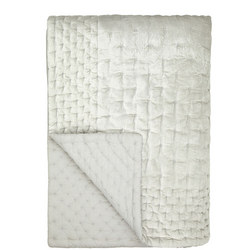 Boutique Hotel Velvet Stitch Throw White