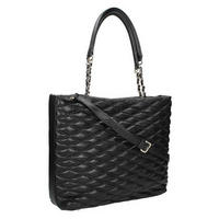 Large Quilted Shopper Bag Black
