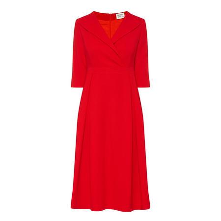 Poppy Collared Dress Red