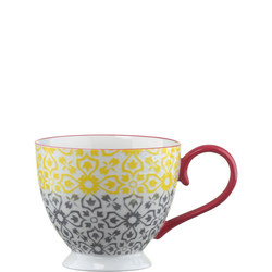 Jasmine Pedestal Mug Yellow