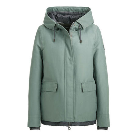 Layered Zip Front Jacket Green