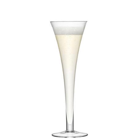 International Bar Hollow Stem Flute x 2  Clear