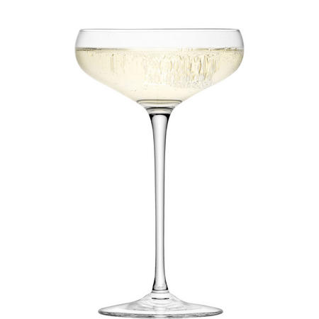 International Wine Champagne Saucer x 4 Clear