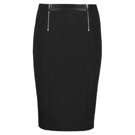 Micro Dot Skirt Black