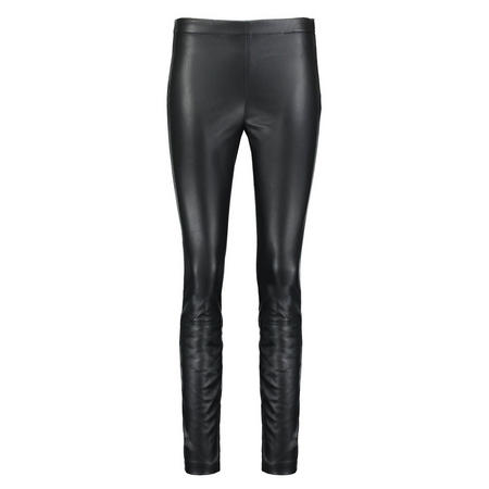 Leatherette Leggings Black