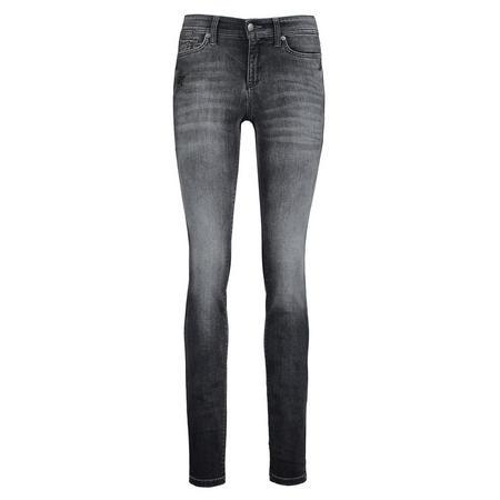 Crystal Embellished Skinny Jeans Multicolour