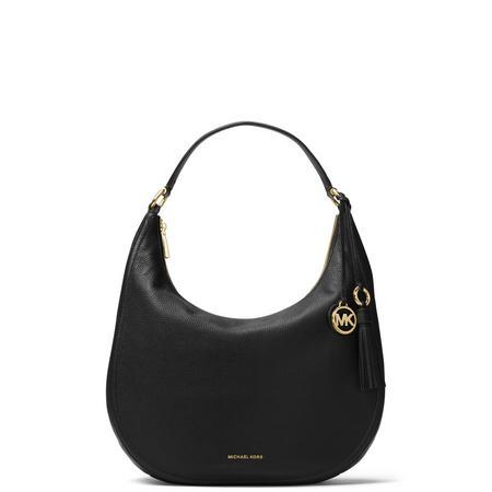a2ca885194b7 Images. Lydia Leather Shoulder Bag Black View Larger Image