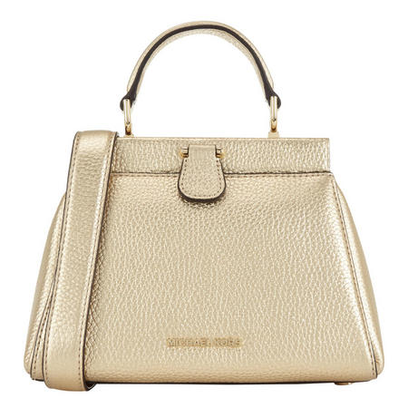 11678ff40d57 Gramercy Frame Small Leather Satchel Bag Gold-Tone