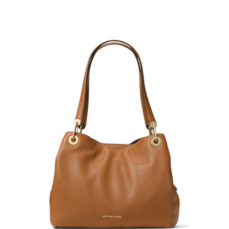 Raven Shoulder Tote Bag Brown