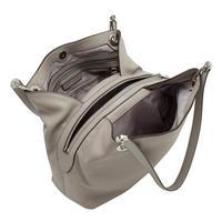 Raven Shoulder Tote Bag Grey
