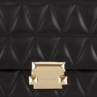 Sloan Large Quilted Leather Shoulder Bag Black