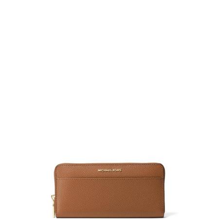 Front Pocket Zip Around Wallet Brown