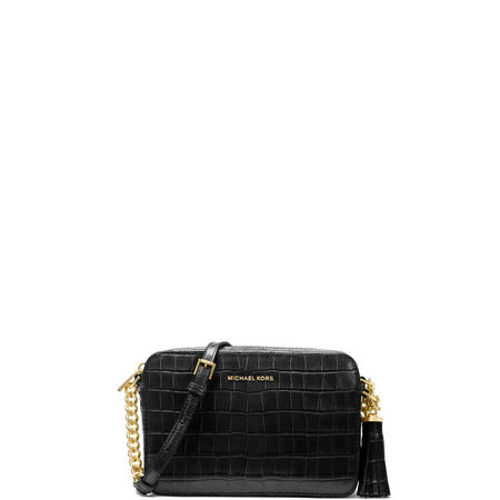 3087cfcdce Ginny Embossed Leather Crossbody Bag Black