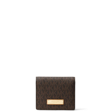 Jet Set Logo Card Case Brown