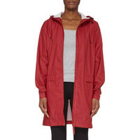 Hooded Raincoat Red